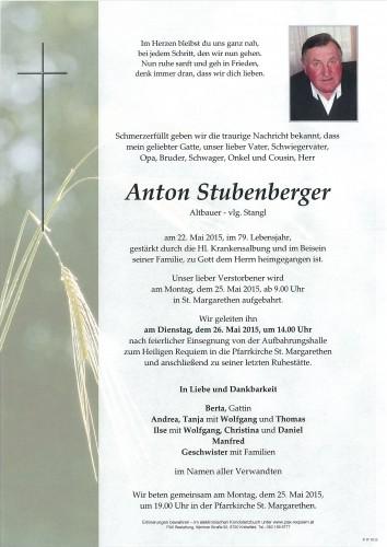 Anton Stubenberger, vlg. Stangl