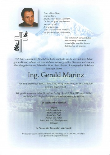 Ing. Gerald Marinz