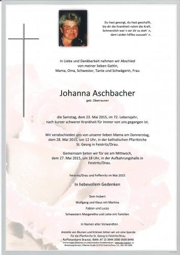 Johanna Aschbacher