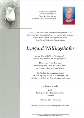 Irmgard Willingshofer