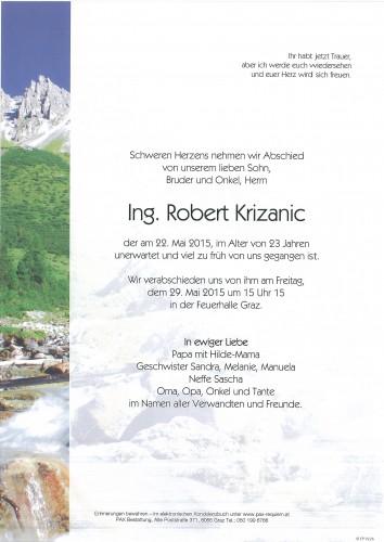 Ing. Robert Krizanic