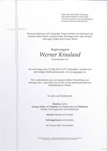 RegR Werner Krauland