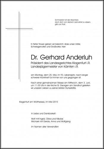 Dr. Gerhard Anderluh