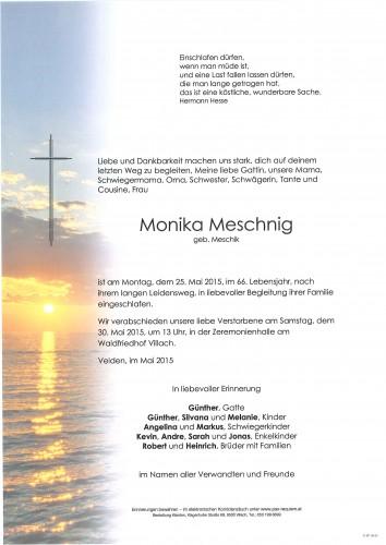 Monika Meschnig geb. Meschik