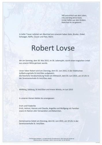 Robert Lovse