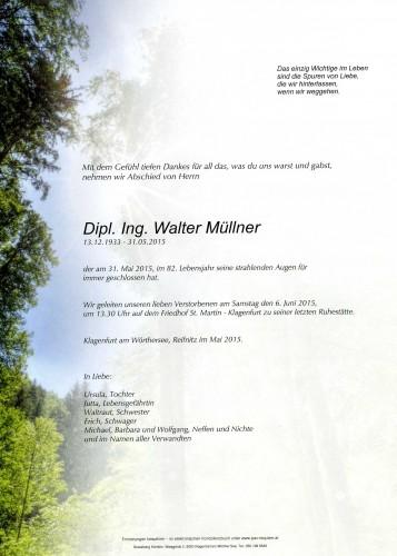 Dipl.Ing. Walter Müllner