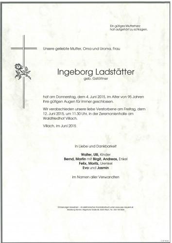 Ingeborg Ladstätter geb. Gstöttner