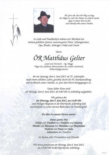ÖR Matthäus Gelter