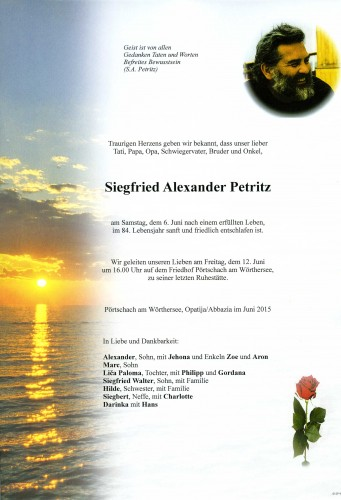 Siegfried Alexander Petritz