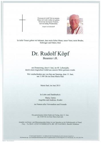 Dr. Rudolf Köpf