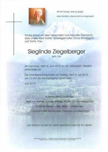 Sieglinde Ziegelberger