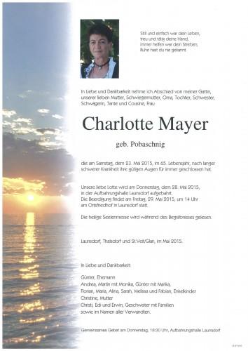 Charlotte Mayer  geb. Pobaschnig
