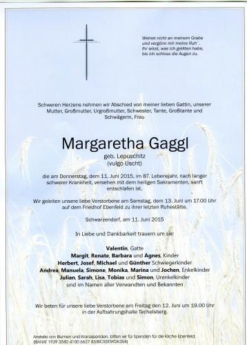 Margaretha Gaggl