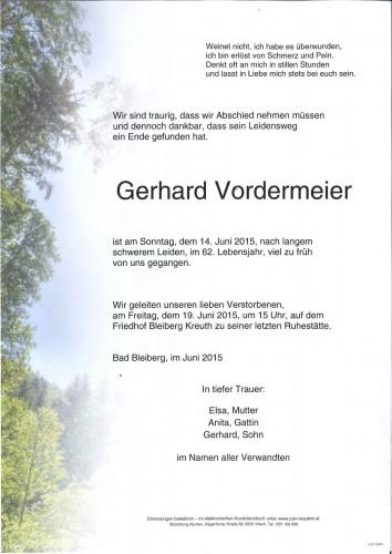 Gerhard Vordermeier