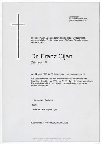 Dr. Franz Cijan