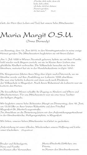Irma Borsody Sr. Margit