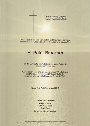 H. Peter Bruckner