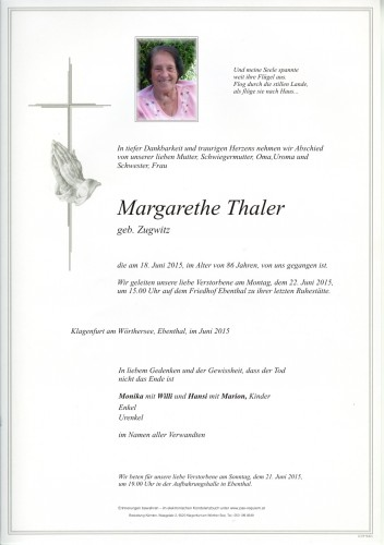 Margarethe Thaler