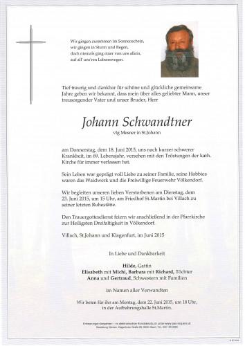 Johann Schwandtner vlg. Mesner