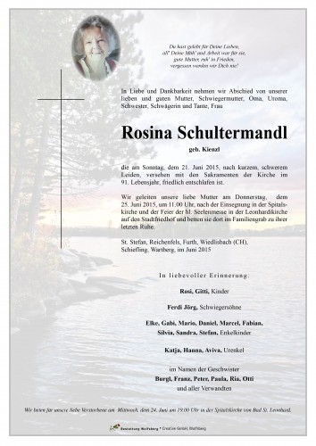 Rosina Schultermandl