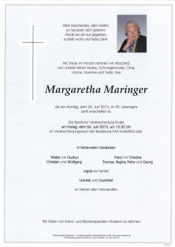 Margaretha Maringer