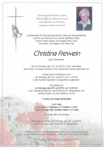 Christina Frewein