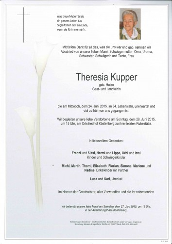 Theresia Kupper