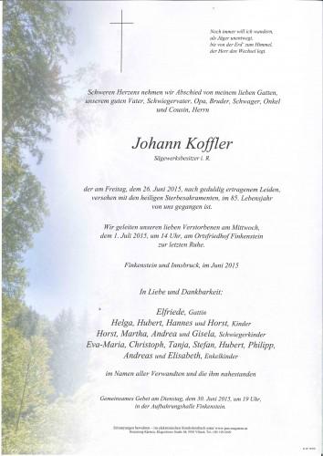 Johann Koffler