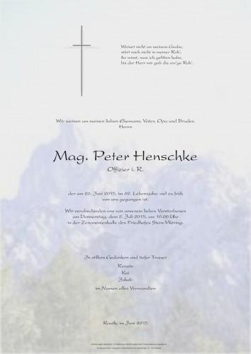Mag. Peter Henschke