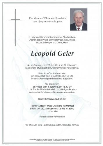 Leopold Geier