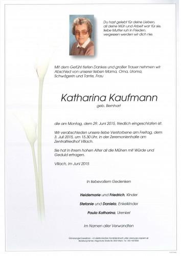 Katharina Kaufmann geb. Bernhart