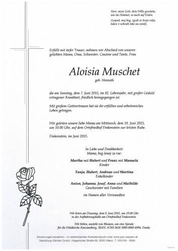 Aloisia Muschet, geb. Hrovath