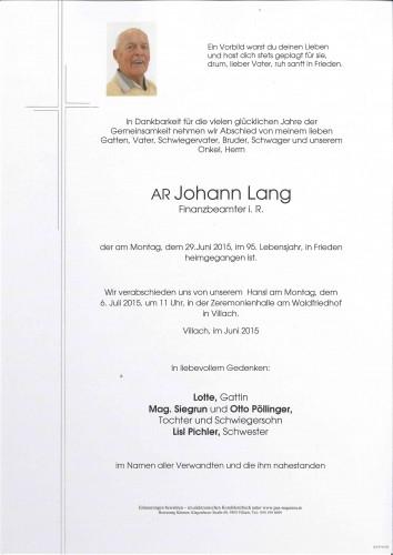 AR Johann Lang