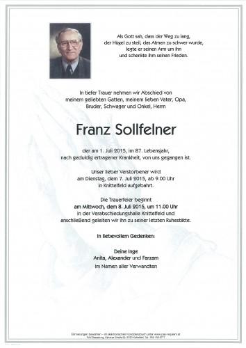 Franz Sollfelner