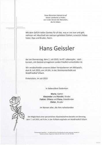 Hans Geissler