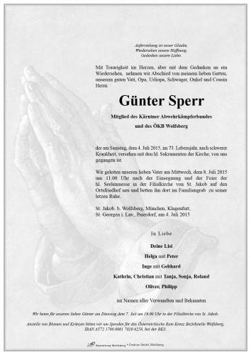 Günter Sperr