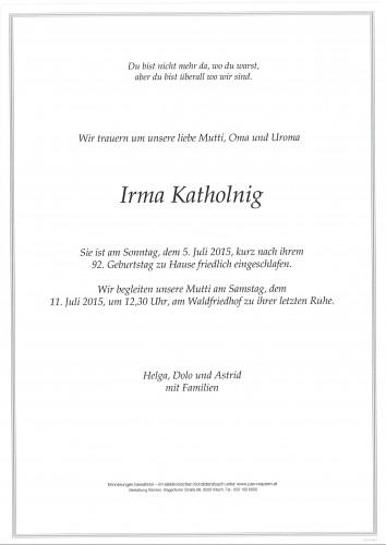 Irma Katholnig