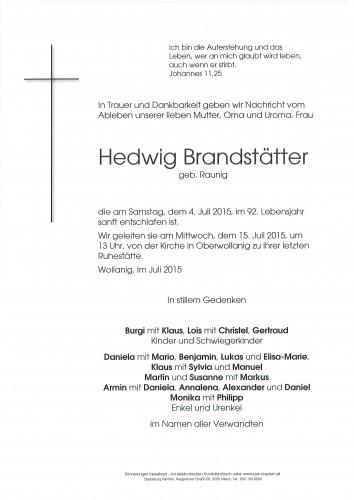 Hedwig Brandstätter geb. Raunig