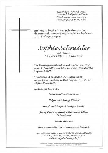 Sophie Schneider geb. Hafner