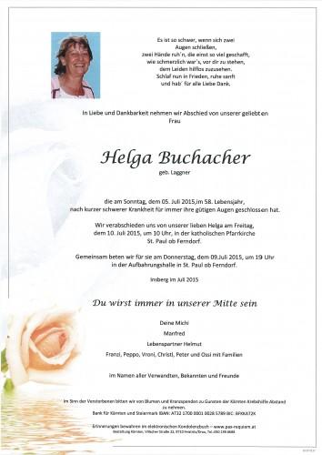 Helga Buchacher geb. Laggner
