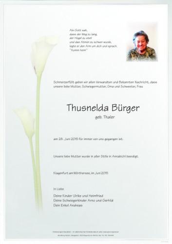 Thusnelda Bürger