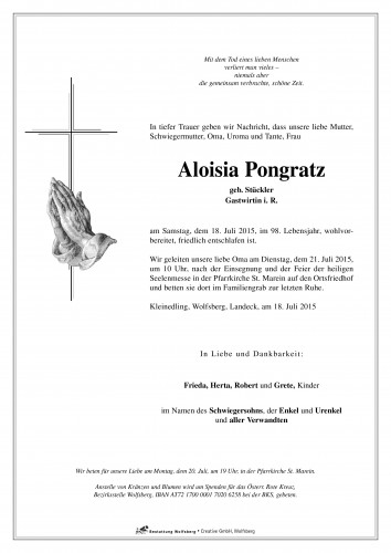 Aloisia Pongratz