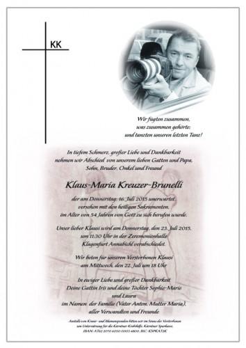 Klaus-Maria  Kreuzer-Brunelli