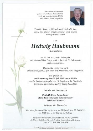 Hedwig Haubmann