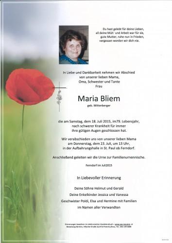 Maria Bliem