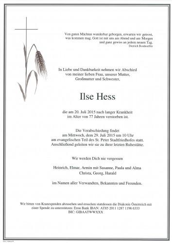 Ilse Hess