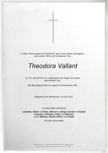 Theodora Vallant