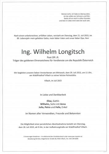 Ing. Wilhelm Longitsch