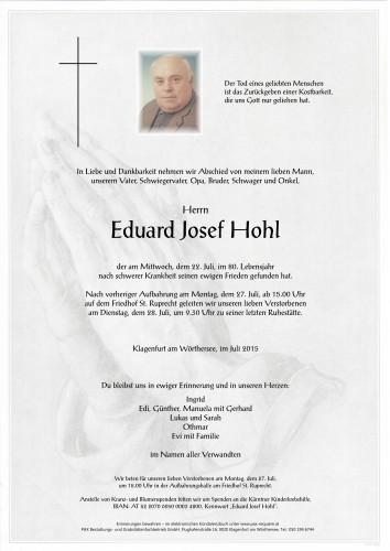 Eduard Josef Hohl