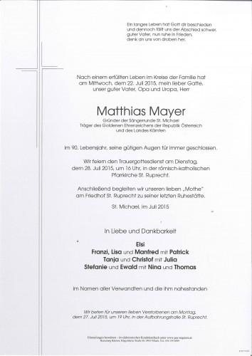 Matthias Mayer